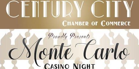 Century City Chamber Monte Carlo Casino Night tickets