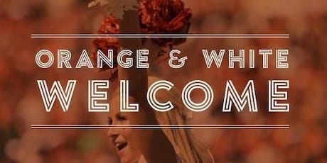 2019 Orange & White Welcome tickets
