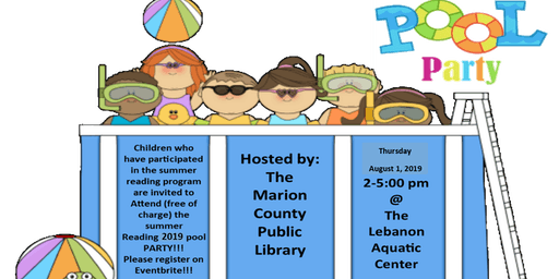 Summer Reading POOL PARTY!!!!