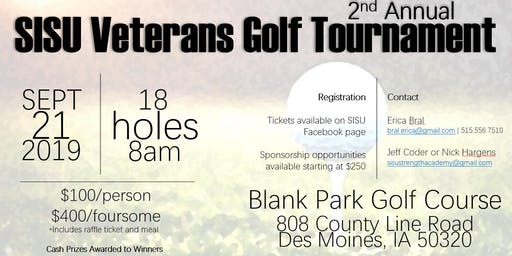 SISU's 2nd Annual Veterans Golf Tournament