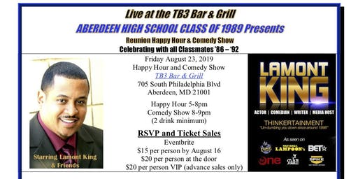 AHS Reunion Happy Hour & Comedy Show