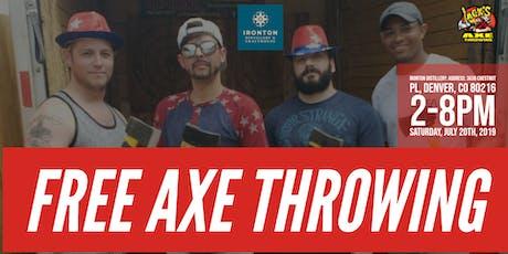 FREE AXE THROWING | IRONTON DISTILLERY tickets
