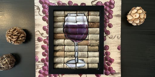 CORK WINE ART ON PALLET - Paint and Sip Party Maker Art Class