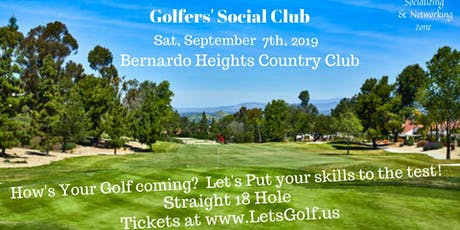 Golfers' Social Club ~ Straight 18 ~ Golf Networking  tickets