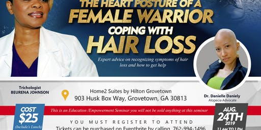 The Heart Posture of a Female Warrior Coping with Hair Loss