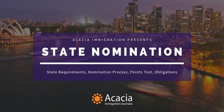 State Nomination Webinar tickets