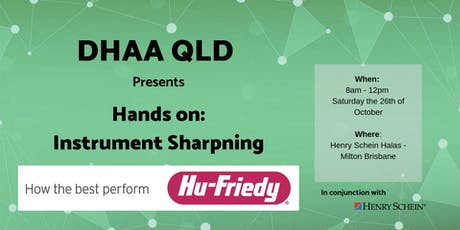 DHAA QLD - Hu-Friedy Hands-on Workshop:  Instrument Sharpening tickets