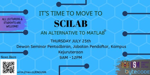 SCILAB Seminar The Game-Changers @ USM ENGINEERING CAMPUS