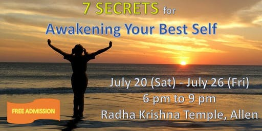 7 Secrets for Awakening your Best Self, Allen, TX