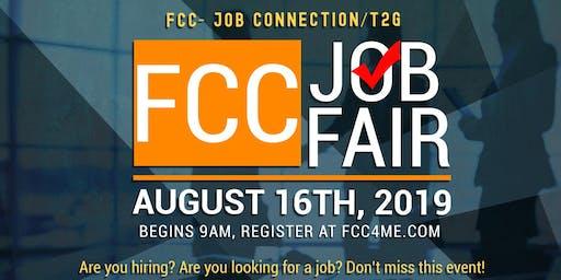 FCC- Job Connection – T2G – Community – Job/Opportunities Fair - Friday, August 16th – 9am – 1pm - COMPANIES - Registration
