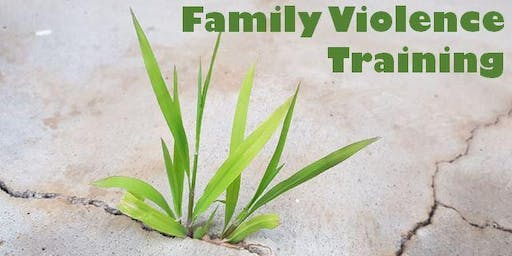 Training: Recognise and Respond to Family Violence
