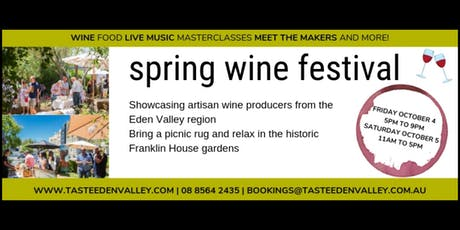 Taste Eden Valley Spring Wine Festival tickets