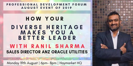 How Your Diverse Heritage Makes You a Better Leader with Ranil Sharma tickets