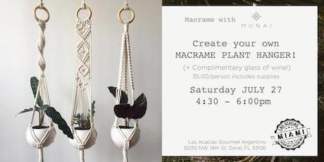 Macrame Workshop: make your own PLANT HANGER!  tickets