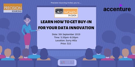 Women in Data | Learn how to get buy-in for your Data Innovation tickets