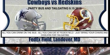Tailgating Party Bus from VA Beach to FedEX Field - Cowboys v. Redskins tickets