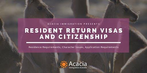 Resident Return Visa & Australian Citizenship Webinar