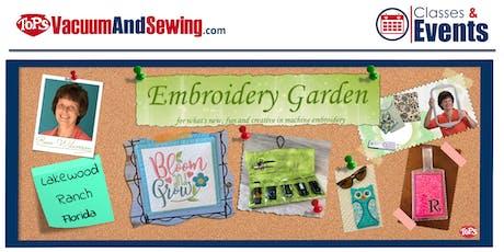 Embroidery Garden Event Taught by Reen Wilcoxson | Lakewood Ranch, Florida entradas
