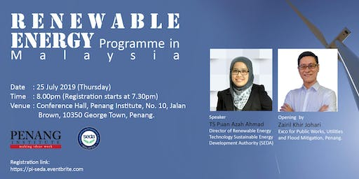 Renewable Energy Programme in Malaysia