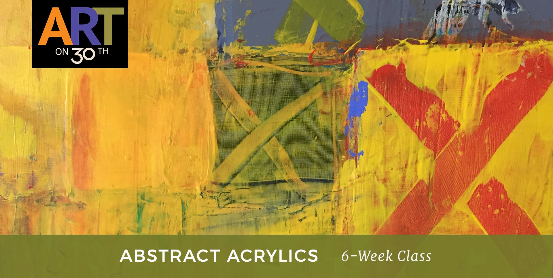 MON - Intro to Abstract Acrylic Painting with instructor Kristen Ide