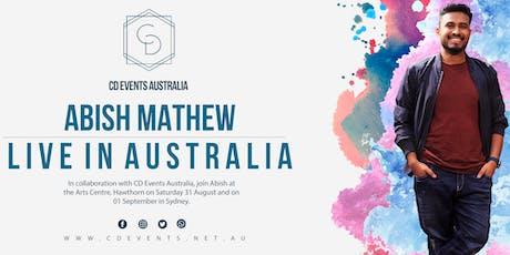 Abish Mathew in Melbourne tickets