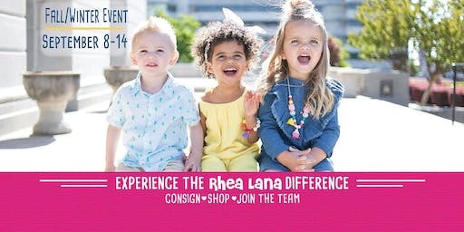 Rhea Lana's of Chattanooga Children's Premiere Consignment Fall 2019 Event