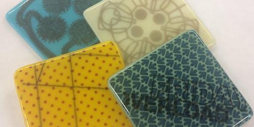 Silk Screen Printing-Glass Coasters