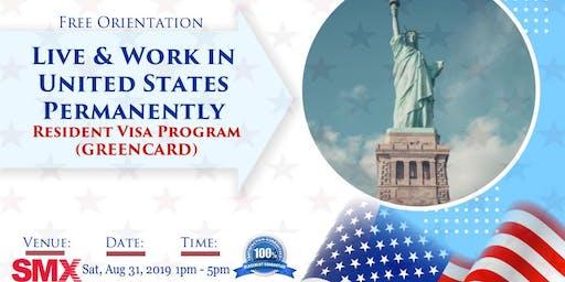 U.S Permanent Resident Visa. (GREENCARD)