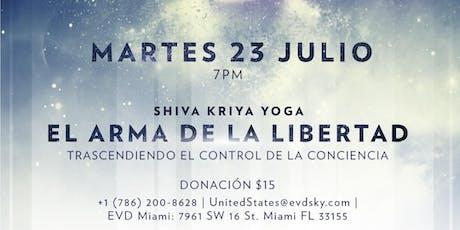 """Conferencia: """"Shiva Kriya Yoga: El Arma de la Libertad. Trascendiendo el Control de la Conciencia."""" tickets"""