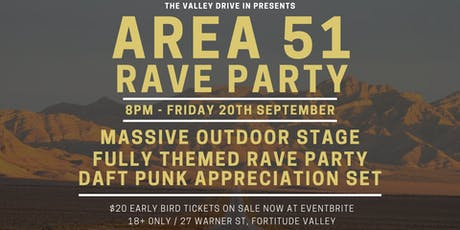 AREA 51 RAVE PARTY tickets