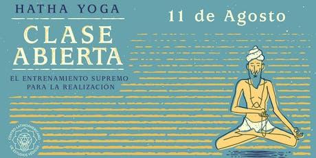 CLASE ABIERTA: Hatha Yoga: el Entrenamiento Supremo para la Realización en Guadalajara. entradas