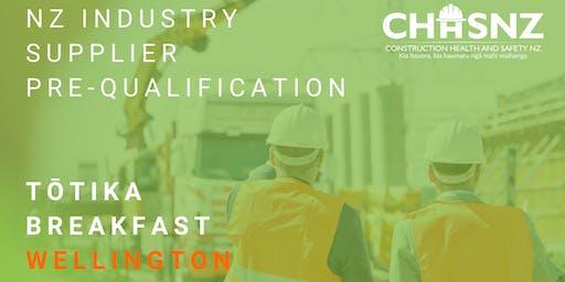 CHASNZ | NZ Industry Supplier Pre-Qualification, Tōtika scheme | Wellington