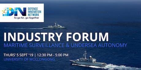 DIN Industry Forum: Maritime Surveillance & Undersea Autonomy tickets