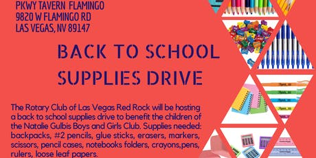 Back to School Supplies Drive tickets