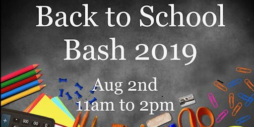 "Community Unity Program presents, ""C.U.P.'s Back 2 School Bash 2019"""