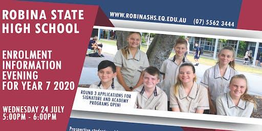 Robina SHS Enrolment Info Night