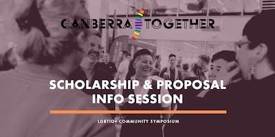 Canberra Together Scholarship & Proposal Information Session