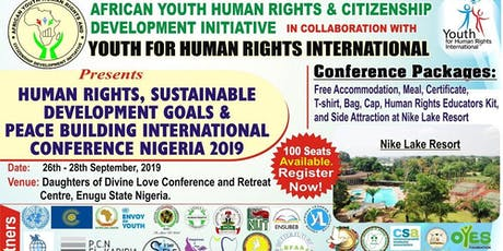 HUMAN RIGHTS, SDGs and PEACE BUILDING INTERNATIONAL CONFERENCE NIGERIA  tickets
