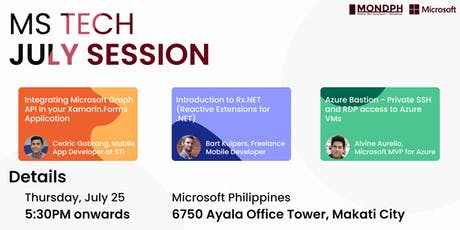 July Microsoft Tech Session tickets