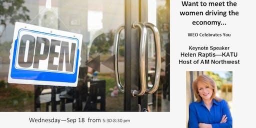 Women Entrepreneurs Org Sept 18 Meeting: WEO Celebrates with Helen Raptis