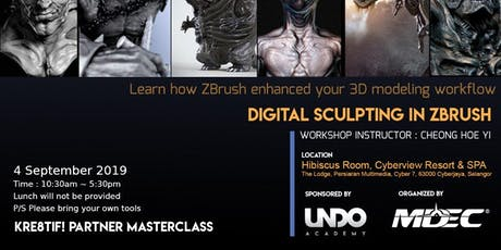 Kre8tif! Partner Masterclass 2019: Digital Sculpting in ZBrush tickets