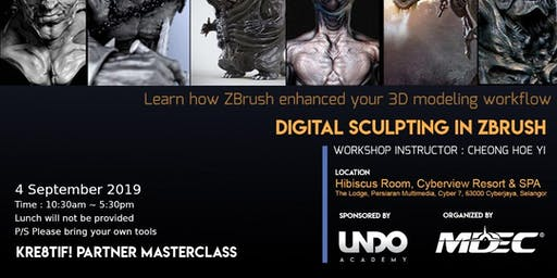 Kre8tif! Partner Masterclass 2019: Digital Sculpting in ZBrush