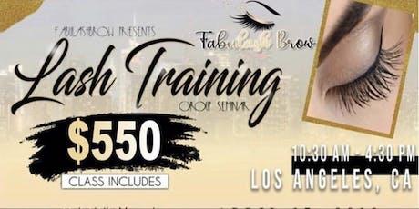 LA Fabulashbrow  Eyelash Extension Workshop +Business Branding tickets