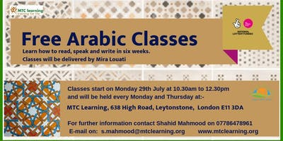 FREE ARABIC CLASSES