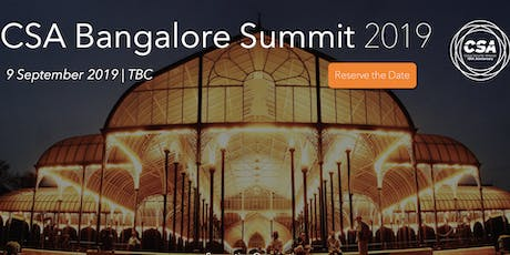 CSA Bangalore Summit 2019 tickets