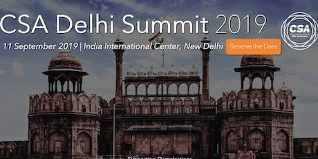 CSA Delhi Summit 2019 tickets