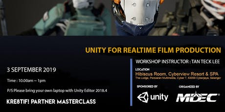 Kre8tif! Partner Masterclass 2019: UNITY for Realtime Film Production tickets