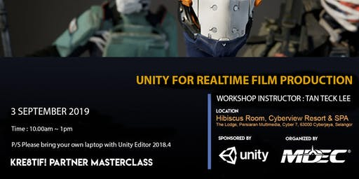 Kre8tif! Partner Masterclass 2019: UNITY for Realtime Film Production