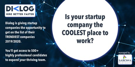 Coolest startup companies to work with in 2019/2020 by Dialog  tickets