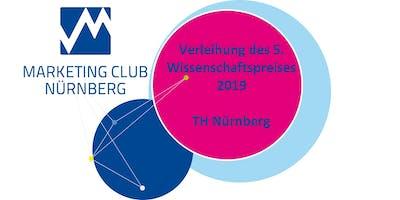 Verleihung des 5. Wissenschaftspreises 2019 im Rahmen eines Science-Slam - Marketing Club Nürnberg - MCN